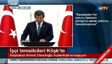 Başbakan Davutoğlu: Meydanlarımız inşallah 1 Mayıs'ı barış içinde kutlayacak