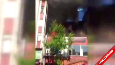 İstanbul'da kafe alev alev yandı