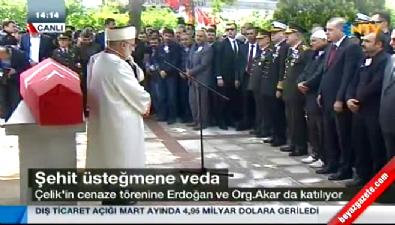 Cumhurbaşkanı şehit cenazesine katıldı