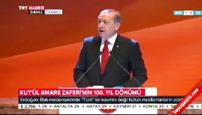 Erdoğan: Kendi tarihimizin üzerine kara bir örtü örtmeye çalışmışız