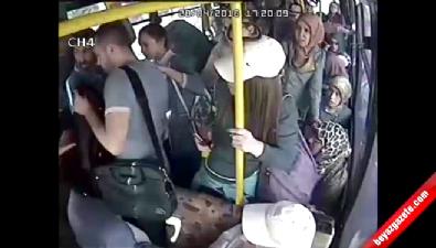 Otobüste Cinsel Tacizde Bulunan Genci, Kadınlar Tekme Tokat Dövdü... Video