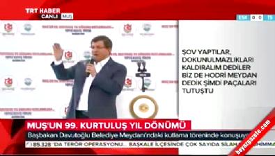 Başbakan Davutoğlu:Eşkiyalar Meclis'e giremeyecek