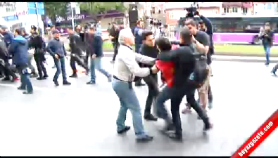 Beşiktaş'ta polis müdahalesi Haberi