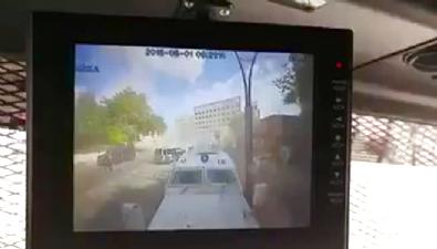 İşte Gaziantep Emniyet Müdürlüğü'ne saldırı anı... Haberi