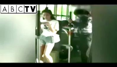Genç kız hırsızı bir tekmeyle etkisiz hale getirdi