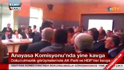 Dokunulmazlık toplantısında HDP'liler yine kavga çıkardı