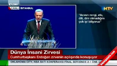 Cumhurbaşkanı Erdoğan Dünya İnsani Zirvesi'nde konuştu