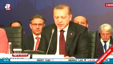 Erdoğan, yuvarlak masa toplantısında konuştu