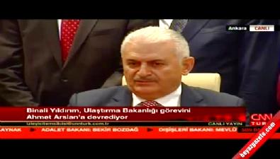 Binali Yıldırım görevi Ahmet Arslan'a devretti