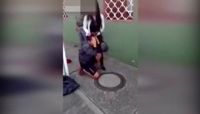 Genç kadından tacizciye sokak ortasında ibretlik ceza!