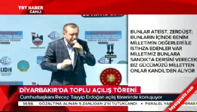 Cumhurbaşkanı Erdoğan: Silahı betonlayacak koordinatları da verecekler