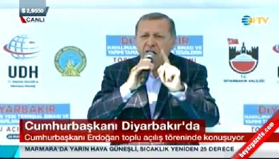 Cumhurbaşkanı Erdoğan'ın Diyarbakır konuşması...