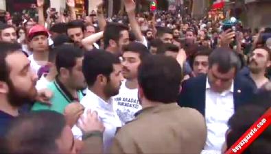 Polis ile Gezi eylemcileri arasında arbede