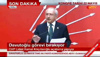 Kılıçdaroğlu'ndan Davutoğlu yorumu