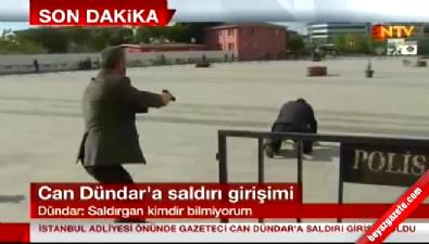 Can Dündar'a saldıran saldırgan gözaltına alındı