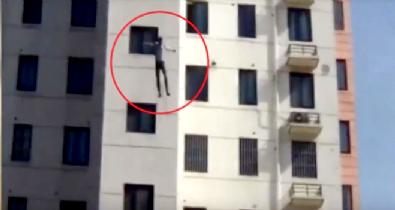 11 katlı binadan aşağı atladı!