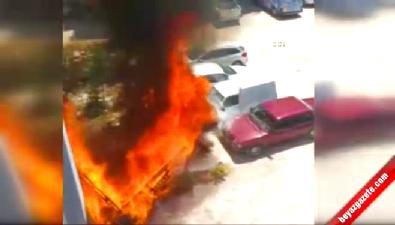 Gaziantep'te 3 Otomobil Böyle Alev Aldı
