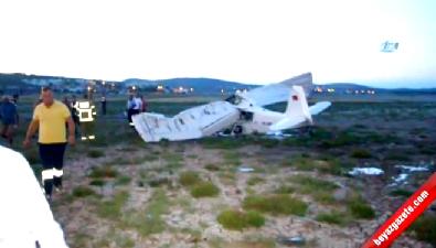 Balıkesir'de eğitim uçağı düştü