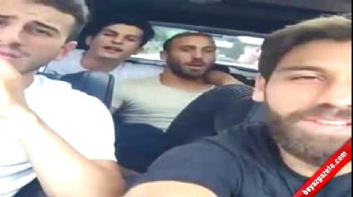 Beşiktaşlı futbolculardan muhteşem şarkı! Video