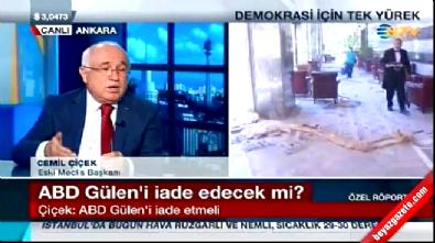 Cemil Çiçek: ABD Fethullah Gülen'i üçüncü bir ülkeye gönderebilir Haberi