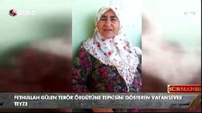 Yaşlı kadın FETÖ'nün ele başına seslendi Haberi