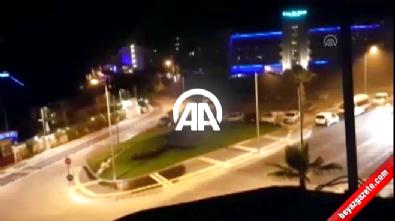 Marmaris'teki otele helikopterlerin asker indirme anı