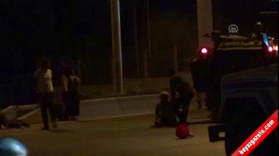 Darbecilere direnen kadının vurulma anı kamerada