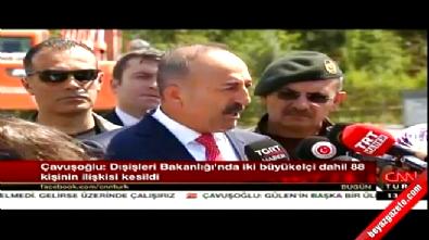 Dışişleri Bakanı Çavuşoğlu: 2'si büyükelçi 88 kişinin bakanlıkla ilişiği kesildi