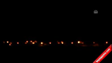 Cerablus'taki terör örgütü DAEŞ unsurlarına yoğun top atışları yapılıyor İzle