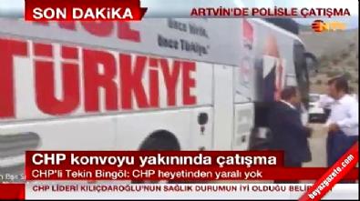 CHP Lideri Kemal Kılıçdaroğlu'nun konvoyuna Artvin Şavşat-Ardanuç'ta ateş açıldı! Çatışma çıktı
