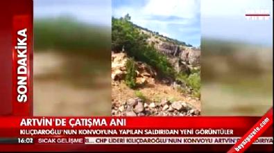 Kılıçdaroğlu'nun konvoyuna yapılan saldırıdan yeni görüntüler