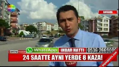 Ankara Altındağ'da aynı yerde 24 saatte 8 trafik kazası meydana geldi! İzle