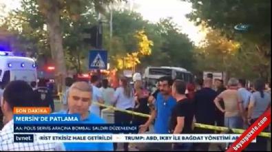 Mersin'de bombalı saldırı! İşte olay yerinden ilk görüntüler