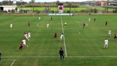 Hazırlık maçı - Türkiye 18 Yaş Altı Milli Futbol Takımı, Karadağ'ı 2-1 yendi - ANTALYA