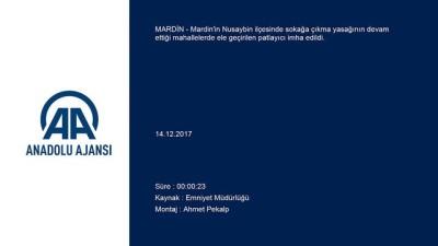Nusaybin'de bulunan patlayıcı imha edildi - MARDİN
