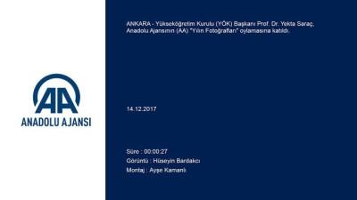 YÖK Başkanı Saraç, Anadolu Ajansının düzenlediği 'Yılın Fotoğrafları' oylamasına katıldı - ANKARA
