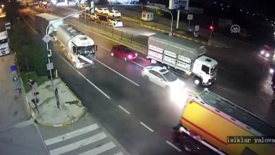 Zincirleme kaza güvenlik kamerasında - YALOVA