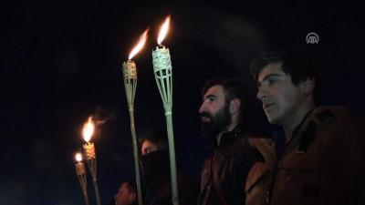 Sarıkamış Harekatı'nın 103. yılı - Öğrenciler sıfırın altında 12 derecede temsili nöbet tuttu (1) - KARS