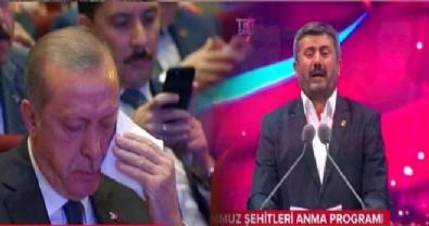 Şehit babasının şiiri Cumhurbaşkanı Erdoğan'ı ağlattı! / 15 Temmuz Şehitleri Anma Programı