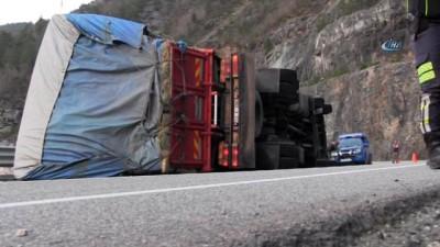 Artvin'in Borçka ilçesinde 2 ayrı ot kamyonu kazası yaşandı, 4 kişi yaralandı İzle