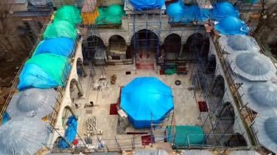 Beyazıt Camii restorasyonu havadan görüntülendi İzle