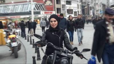 Fenomen olan 'Çılgın Türk' motoruyla Almanya'dan İstanbul'a geldi İzle