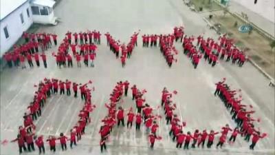 Minik öğrencilerden Zeytin Dalı Harekatına destek