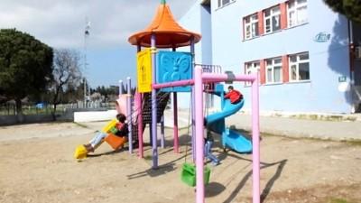 Okul yanına baz istasyonu kurulmasına velilerden tepki İzle