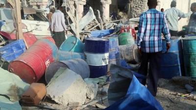 Somali'de bomba yüklü araçlarla saldırı - olay yeri - MOGADİŞU İzle