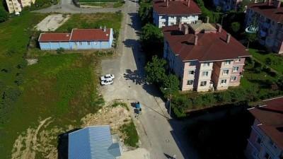Jandarmanın nefes kesen dolandırıcı operasyonu drone ile görüntülendi