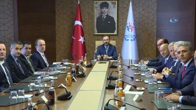 TFF Başkanı Demirören'den Bakan dr. Mehmet Kasapoğlu'na hayırlı olsun ziyareti