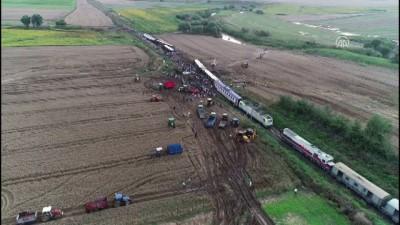 Tren kazasının yaşandığı bölge havadan görüntülendi - TEKİRDAĞ