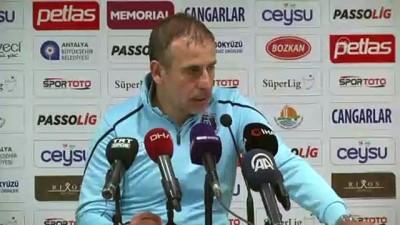Antalyaspor-Medipol Başakşehir maçının ardından - Abdullah Avcı - ANTALYA